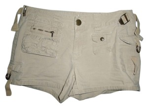 Arizona Jean Company Cargo Pockets Buckles Zippers Cargo Shorts Beige