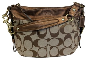 Coach Baseman Peanuts Swagger Swag Patent Satchel in Brown
