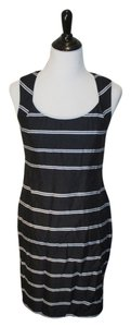 Ann Taylor short dress Navy Open Back Stripes Striped on Tradesy