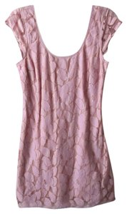 American Eagle Outfitters short dress Pink Bodycon Floral Lace on Tradesy