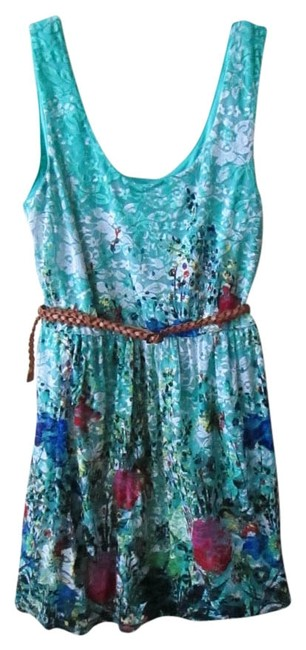 Preload https://img-static.tradesy.com/item/526546/as-u-wish-green-floral-sleeveless-mini-short-casual-dress-size-4-s-0-0-650-650.jpg