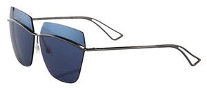 Dior Metallic 63MM Square Sunglasses Ruthenium/Azure Blue Mirror
