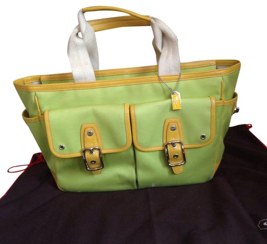 Preload https://item2.tradesy.com/images/coach-tote-bag-lime-green-5265541-0-0.jpg?width=440&height=440