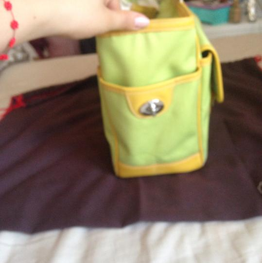Coach Tote in Lime Green