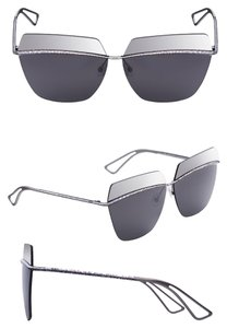 Dior Dior Metallic 63MM Square Sunglasses Silver/Silver Grey Mirror