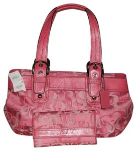 Coach 14492 Soho Optic Punch Tote in Pink