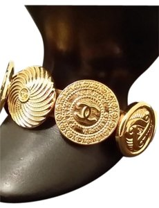 Chanel RARE CHANEL SEASON 29 GOLD PLATED ASTROLOGY BRACELET CUFF