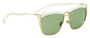 Dior Dior So Electric 58MM Square Sunglasses White Gold/Green