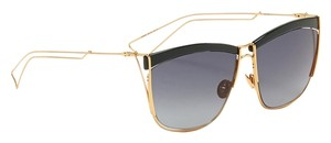 Dior Dior So Electric 58MM Square Sunglasses Gold Dark Green/Grey Shaded