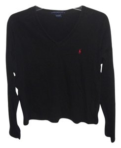 Ralph Lauren Top Black/Red Logo
