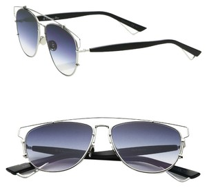 Dior Dior Technologic 57MM Pantos Sunglasses Palladium Black/Blue Shaded