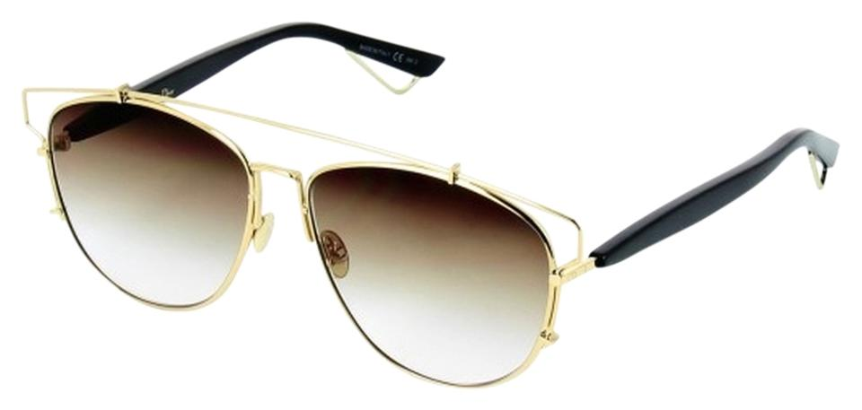 Dior Gold Black Brown Shaded Technologic 57mm Pantos Black Brown Sunglasses e8282ca59437