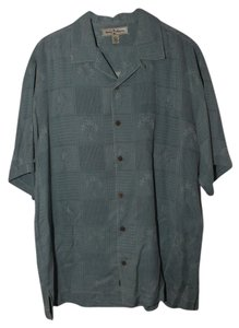 Tommy Bahama Button Down Shirt Teal Dark