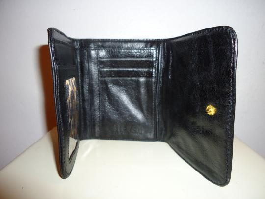 Steven by Steve Madden Steven/Steve Madden Black Leather Wallet