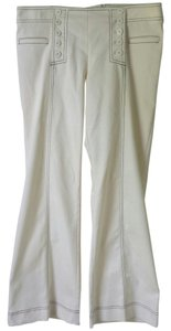 Nanette Lepore Size 10 Beige Sailor Wide Leg Pants Cream