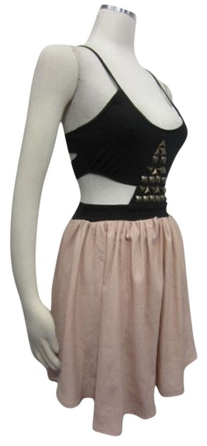 Reverse Cut-out Studded Backless Dress