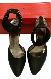 Charles Jourdan Black with sparkle Pumps