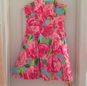 Lilly Pulitzer short dress Hotty pink first inpression on Tradesy