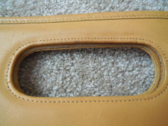 Coach Vintage Leather Logo Tote in Golden Yellow