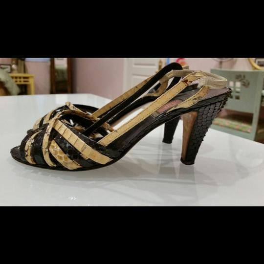 Anne Klein Black & beige Sandals