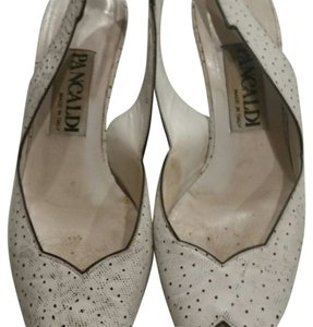 Pancaldi White with black polka dots Sandals