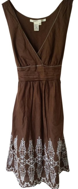 Max Studio short dress Brown on Tradesy