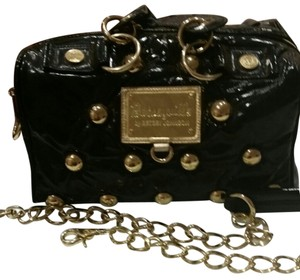 Betsey Johnson Black and gold Messenger Bag