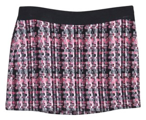 MILLY Anthropologie Wear To Work Mini Skirt Pink And Black