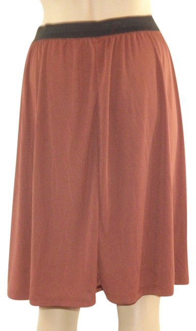 New York & Company Made In The Usa Pull-on Style No Pockets A-line Silhouette Unlined Skirt Brown