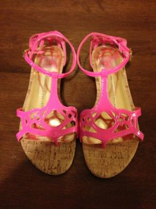 Dolce Vita Perforated Espadrille Hot Pink Sandals