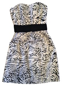short dress animal print on Tradesy