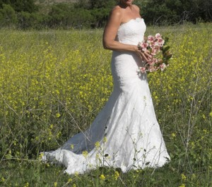 Sz 6/8 All Lace Sexy Slim Lightweight Wedding Dress