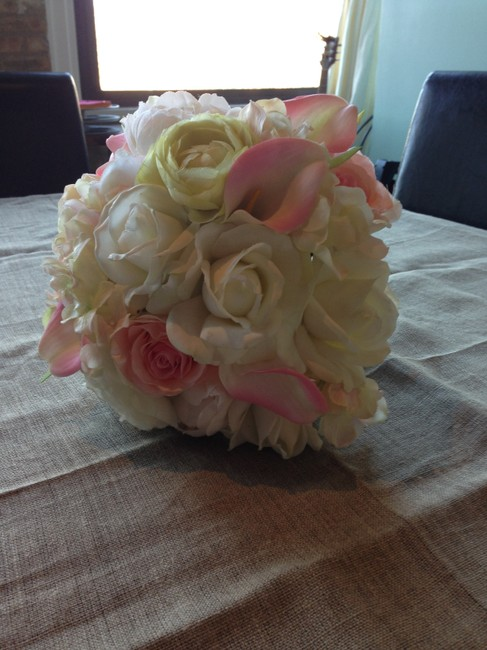 Item - Ivory/Pink/Champagne Real Touch Bridesmaid Bouquets (3)