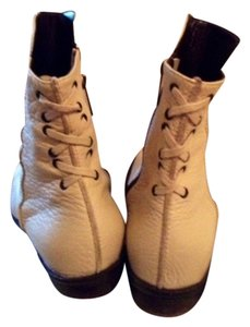 Coccinelle Never Worn Laced Leather Off white Boots