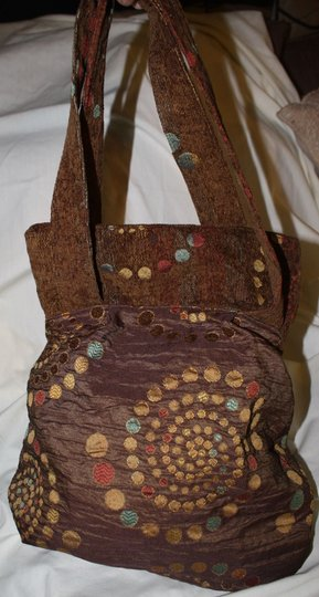 Other Crafted Unique One Of Fabric Tote in BROWNS AND NEUTRALS