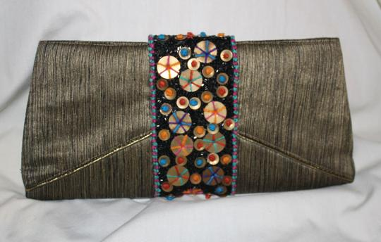 Bamboo Trading Company METALLIC AND MULTI Clutch
