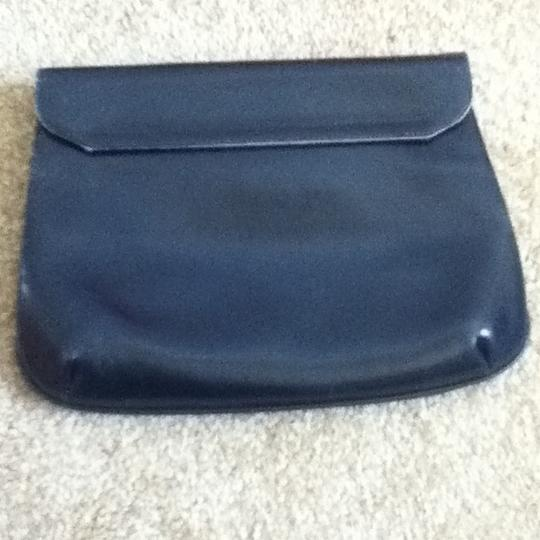 Other Leather Navy Clutch