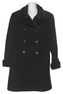 Jonathan Michael Wool Faux Fur Pea Coat