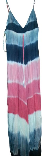 Item - Grey Pink Ombre Flowy Long Casual Maxi Dress Size 12 (L)