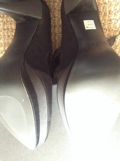 BHLDN Black Anthropologie Bombshell Boots/Booties Size US 9 Image 5