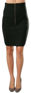 Elizabeth & James Wool Zip Skirt Green