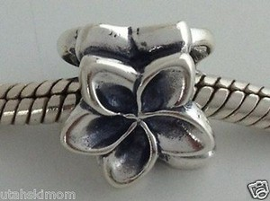 Cathleen Bunt Charms Of Aloha Sterling Silver Plumeria Flower Charm Usa Made