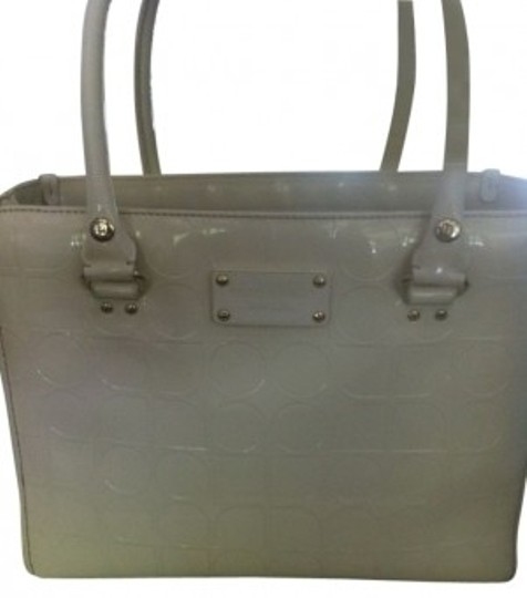 Kate Spade Quinn Tote Embossed Ace Satchel in White