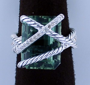 David Yurman Green Cable Wrap Prasiolite 16x12mm 6.5 Ring