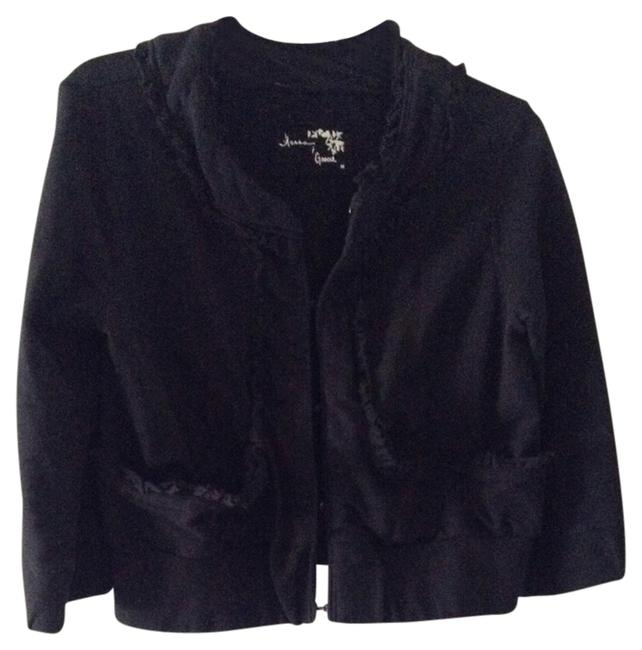 Preload https://item5.tradesy.com/images/hanna-and-gracie-black-cute-ruffle-detail-cardigan-size-8-m-527964-0-0.jpg?width=400&height=650