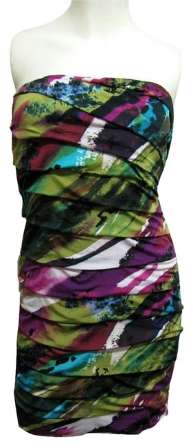 Speechless New Strapless Color Wrap Tiered Short Party With Tag S Small 4 6 White Green Purple Blue Black Dress