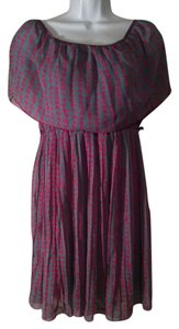 Kiwi short dress Gray/ Fushia on Tradesy