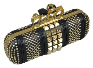 Alexander McQueen Black/Gold Clutch