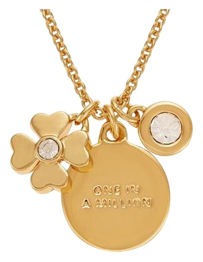 "Kate Spade ""1 in a Million"" Charm Pendant & Crystal Dot Paperweight"
