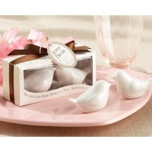 White Love Birds Salt and Pepper 18 Pair Wedding Favors
